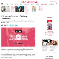 Prices for Common Clothing Alterations - Real Simple