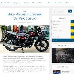 Bike Prices Increased By Pak Suzuki