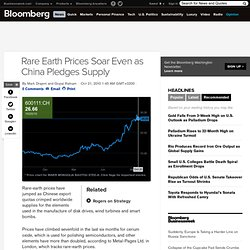 Rare Earth Prices Soar Even as China Pledges Supply