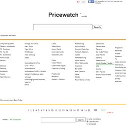Pricewatch - Web's first Price Comparison site. Find the lowest price, deals and store reviews on tech and more