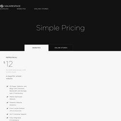 Pricing — Squarespace