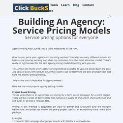 Pricing Model Agency - ClickBucks