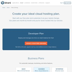 Pricing for Bitnami Cloud Hosting