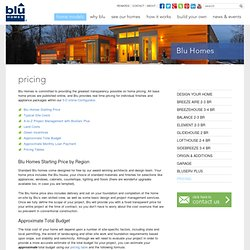 Pricing - Blu Homes