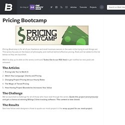 Pricing Bootcamp | Build Internet!