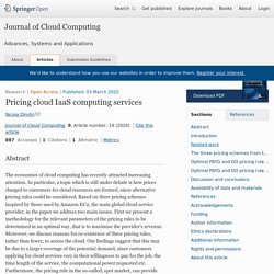 Pricing cloud IaaS computing services