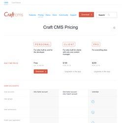 Pricing - Craft