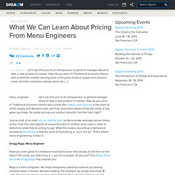 What We Can Learn About Pricing From Menu Engineers