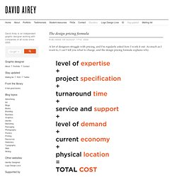 The design pricing formula