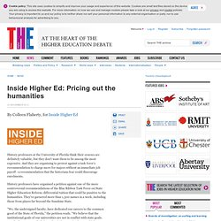 Inside Higher Ed: Pricing out the humanities