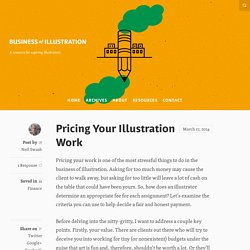 Pricing Your Illustration Work