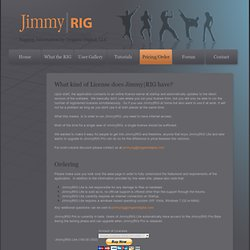 Pricing/Order - JimmyRIG
