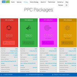 PPC/SEM Pricing & Packages - EZ Marketing Tech