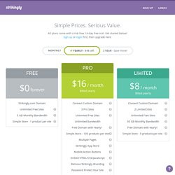 Pricing Plans - Strikingly