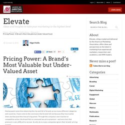 Pricing Power: A Brand's Most Valuable but Under-Valued Asset