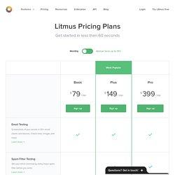 Pricing - Litmus