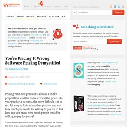 You're Pricing It Wrong: Software Pricing Demystified