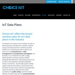IoT Data Plans & Pricing for Solution providers