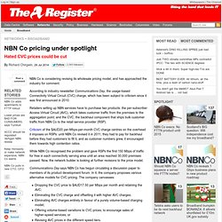 NBN Co pricing under spotlight