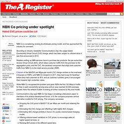NBN Co pricing under spotlight