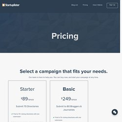 Pricing - Startuplister