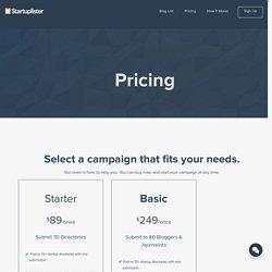 Pricing - Startuplister