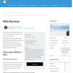Wix Review (2021): Pros & Cons, Pricing; Wix Templates Preview