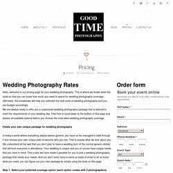 Pricing wedding packages Chicago - Love your photos