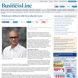 Pricol eyes Africa to ride two-wheeler wave
