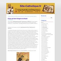 Prière de Saint Grégoire de Narek
