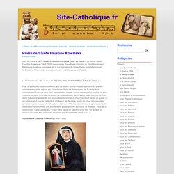 Prière de Sainte Faustine Kowalska