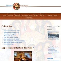 Coin prière [Fraternité Eucharistein]