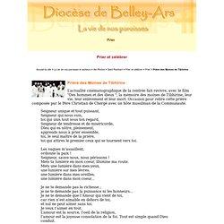 Prière des Moines de Tibhirine - Diocèse de Belley-Ars