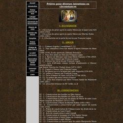 Prières diverses [prierecatholique.free.fr]