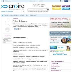 Prières de louange - Louange - Ecole de prière