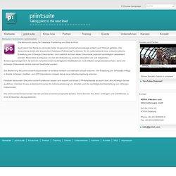comet: Allround-Lösung für Database Publishing und Web-to-Print