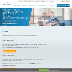 Prijzen Infine Software