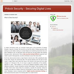 What is Data Security? - Data Security Training California