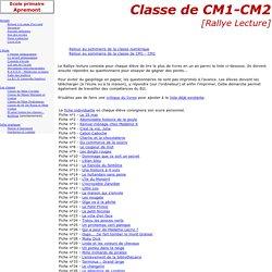 Ecole primaire d'Apremont - Les classes - Classe Numérique - Rallye Lecture