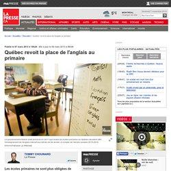 Québec revoit la place de l'anglais au primaire
