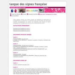 LSF Primaire - Outils pour l'enseignant et la classe