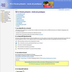 TIC à l'école primaire : récits de pratiques