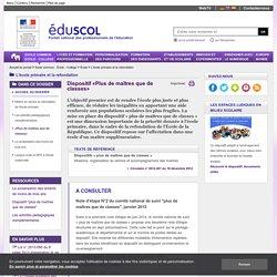 L'école primaire et la refondation - «Plus de maîtres que de classes»