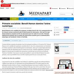 Primaire socialiste: Benoît Hamon domine l'arène numérique