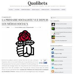 La primaire socialiste vue depuis les médias sociaux