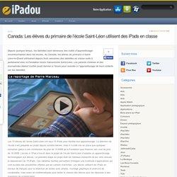 Canada: Les élèves du primaire de l'école Saint-Léon utilisent des iPads en classe