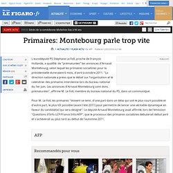 Primaires: Montebourg parle trop vite