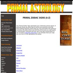 Primal Astrology - Animal Spirit List