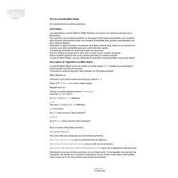 Test de primalité Miller-Rabin - cryptosec