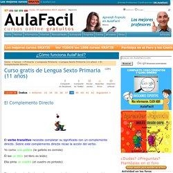 Curso gratis de Lengua Sexto Primaria (11 años) - El Complemento Directo